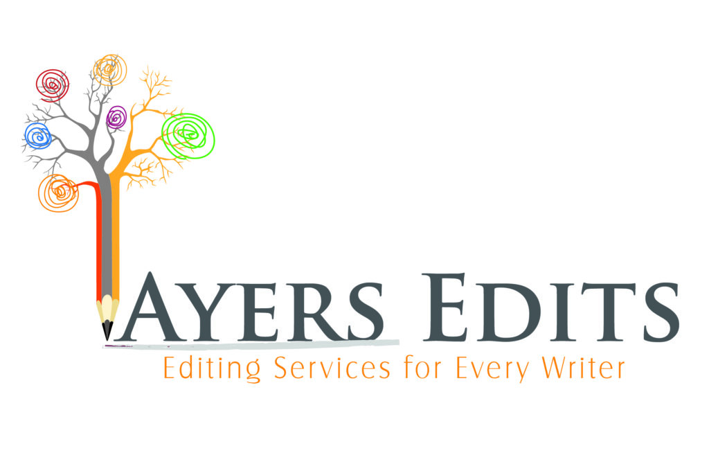 logo of Ayers Edits has a pencil that turns into a tree